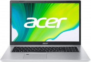 Aspire 5 A517-52G-712T IC i7-1165G7 43,94cm 17,3Zoll FHD 16GB RAM 1000GB SSD NVIDIA MX350 W10P silber + Tasche